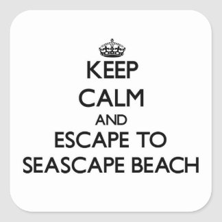 Keep calm and escape to Seascape Beach California Square Stickers