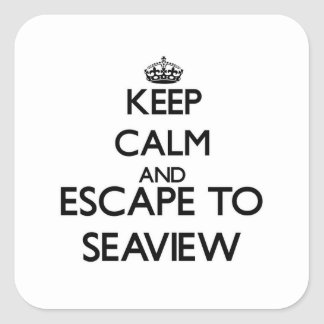 Keep calm and escape to Seaview Massachusetts Square Stickers