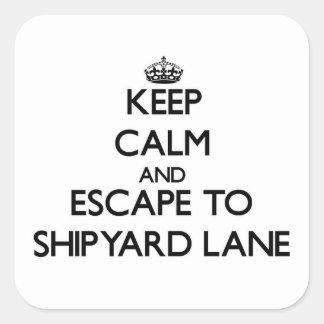 Keep calm and escape to Shipyard Lane Massachusett Sticker