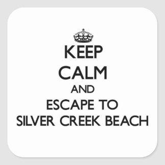 Keep calm and escape to Silver Creek Beach Wiscons Stickers