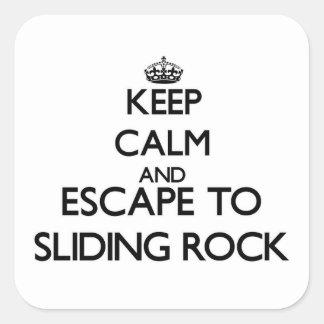 Keep calm and escape to Sliding Rock Samoa Square Sticker
