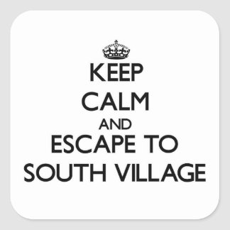 Keep calm and escape to South Village Massachusett Stickers