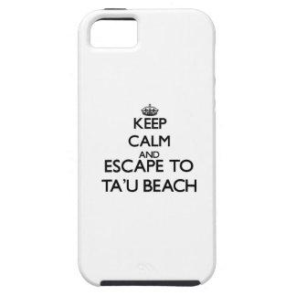 Keep calm and escape to Ta'U Beach Samoa iPhone 5 Cover