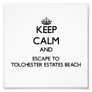 Keep calm and escape to Tolchester Estates Beach M Photo Art