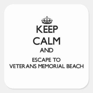 Keep calm and escape to Veterans Memorial Beach No Sticker