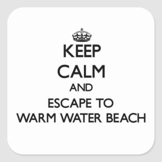 Keep calm and escape to Warm Water Beach Wisconsin Stickers