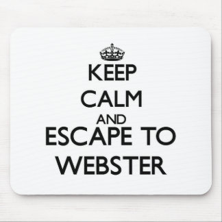 Keep calm and escape to Webster New Jersey Mousepad