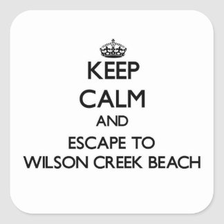 Keep calm and escape to Wilson Creek Beach Califor Stickers