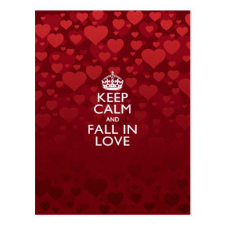 Keep Calm And Fall in Love Postcard