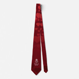 Keep Calm And Fall in Love Tie