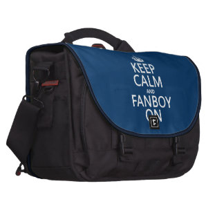 Keep Calm and Fanboy On in any color Bag For Laptop
