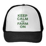Keep Calm and Farm On Cap