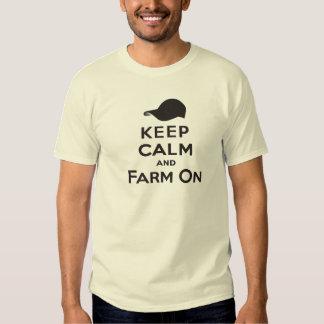 Keep Calm and Farm On Men's T-Shirt