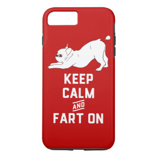 Keep Calm and Fart On with the cute French Bulldog iPhone 8 Plus/7 Plus Case