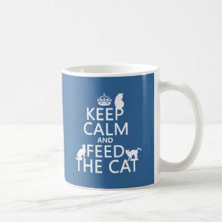 Keep Calm and Feed The Cat Coffee Mug