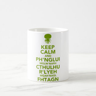Keep Calm and Fhtagn Basic White Mug