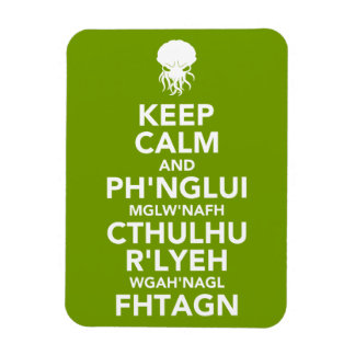 Keep Calm and Fhtagn Rectangular Photo Magnet