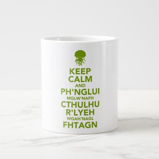 Keep Calm and Fhtagn Jumbo Mugs