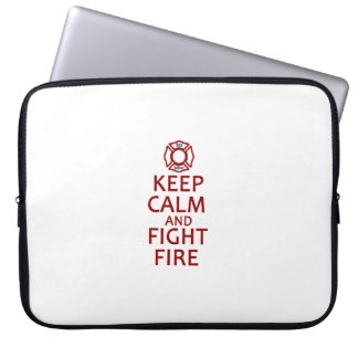 Keep Calm and Fight Fire Laptop Sleeve