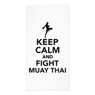 Keep calm and fight Muay Thai Photo Greeting Card