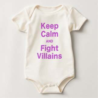 Keep Calm and Fight Villains Bodysuits