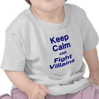 Keep Calm and Fight Villains T Shirt