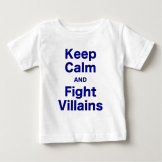 Keep Calm and Fight Villains Tee Shirts