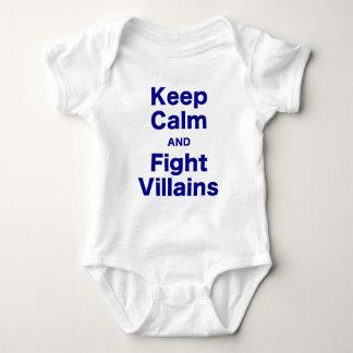 Keep Calm and Fight Villains Tshirt