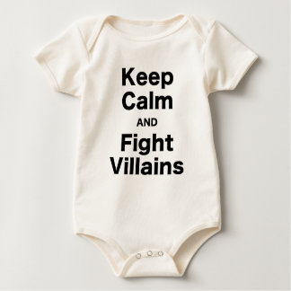 Keep Calm and Fight Villains Baby Creeper