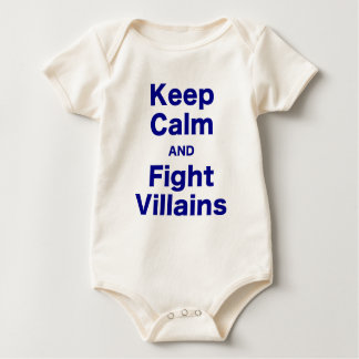 Keep Calm and Fight Villains Rompers