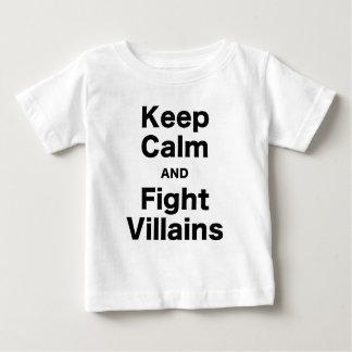 Keep Calm and Fight Villains Tshirts