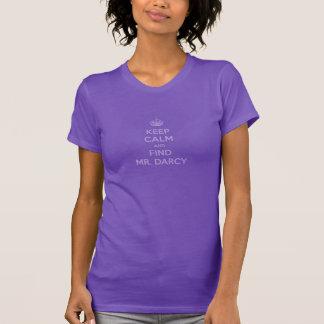 Keep Calm and Find Mr. Darcy Jane Austen Dark T-Shirt
