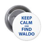 Keep Calm and Find Waldo Badges