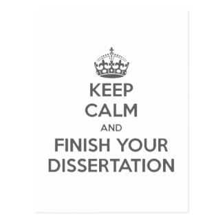 Keep Calm and Finish Your Dissertation Postcard