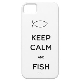 Keep Calm and Fish iPhone 5/5S Covers