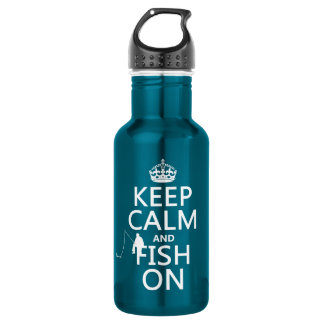 Keep Calm and Fish On (all colors) 532 Ml Water Bottle