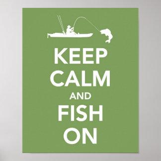 Keep Calm and Fish On print