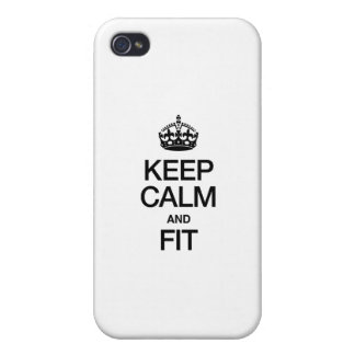 KEEP CALM AND FIT iPhone 4/4S CASES