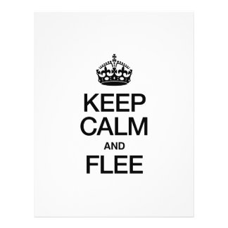 KEEP CALM AND FLEE FLYER