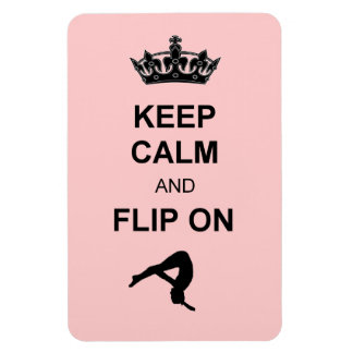 Keep Calm and Flip on Rectangular Photo Magnet