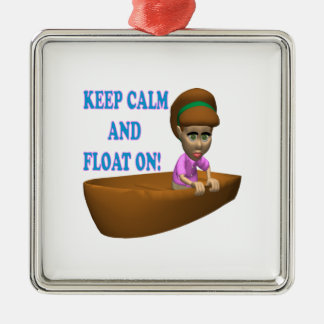 Keep Calm And Float On 2 Christmas Ornament