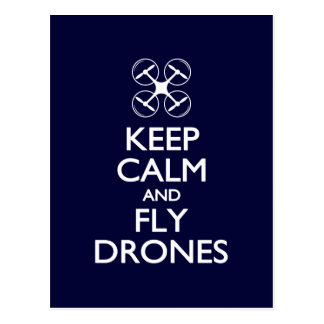 Keep Calm and Fly Drones Postcard