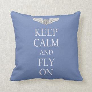 Keep calm and fly on cushion