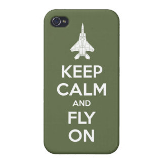Keep Calm and Fly On (olive) Case For The iPhone 4