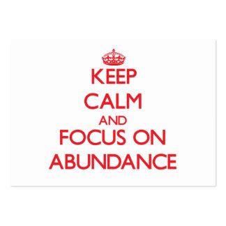 Keep calm and focus on ABUNDANCE Business Card Template