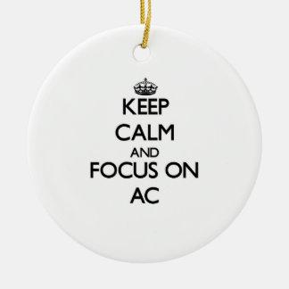 Keep Calm And Focus On Ac Christmas Tree Ornament