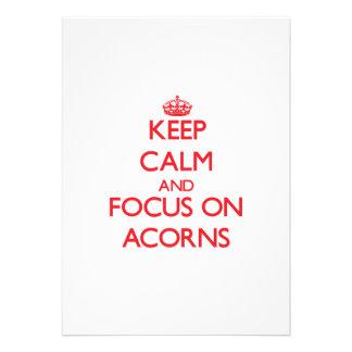 Keep calm and focus on ACORNS Invitation