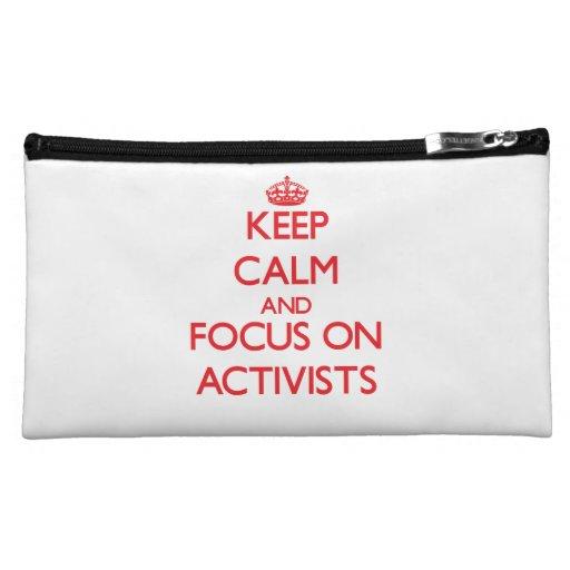 Keep calm and focus on ACTIVISTS Makeup Bag