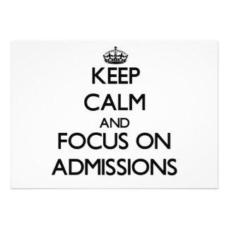 Keep Calm And Focus On Admissions Custom Invite