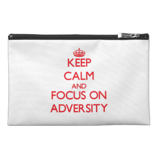 Keep calm and focus on ADVERSITY Travel Accessories Bags
